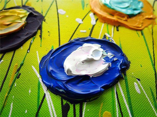 Flourish schilderij - Uitvergroting