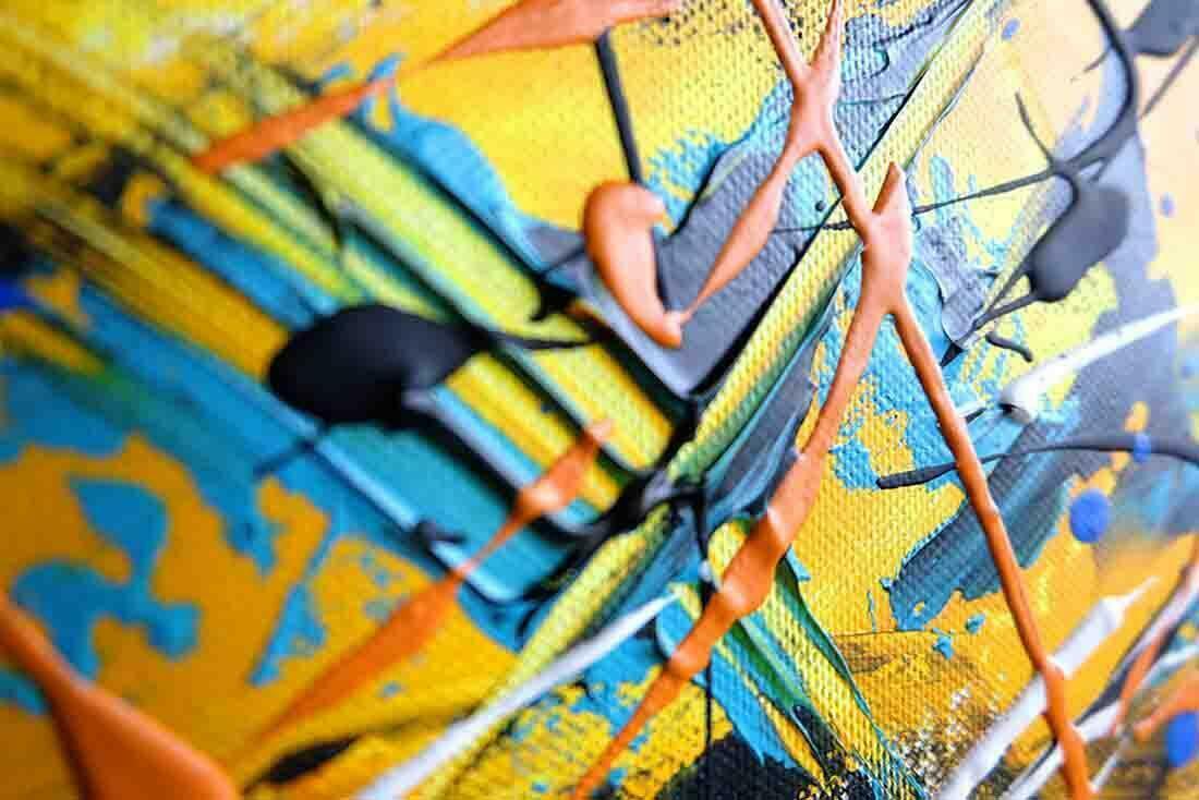 Abstract schilderij New Day II - Uitvergroting 1 van 3
