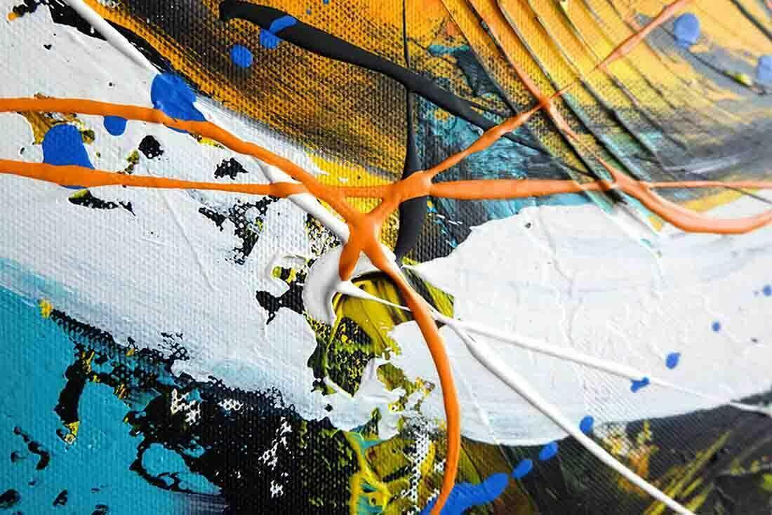 Abstract schilderij New Day II - Uitvergroting 3 van 3