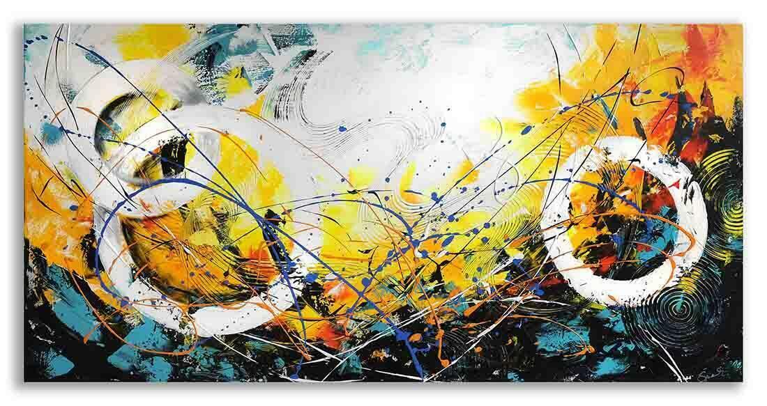 Abstract schilderij New Day II