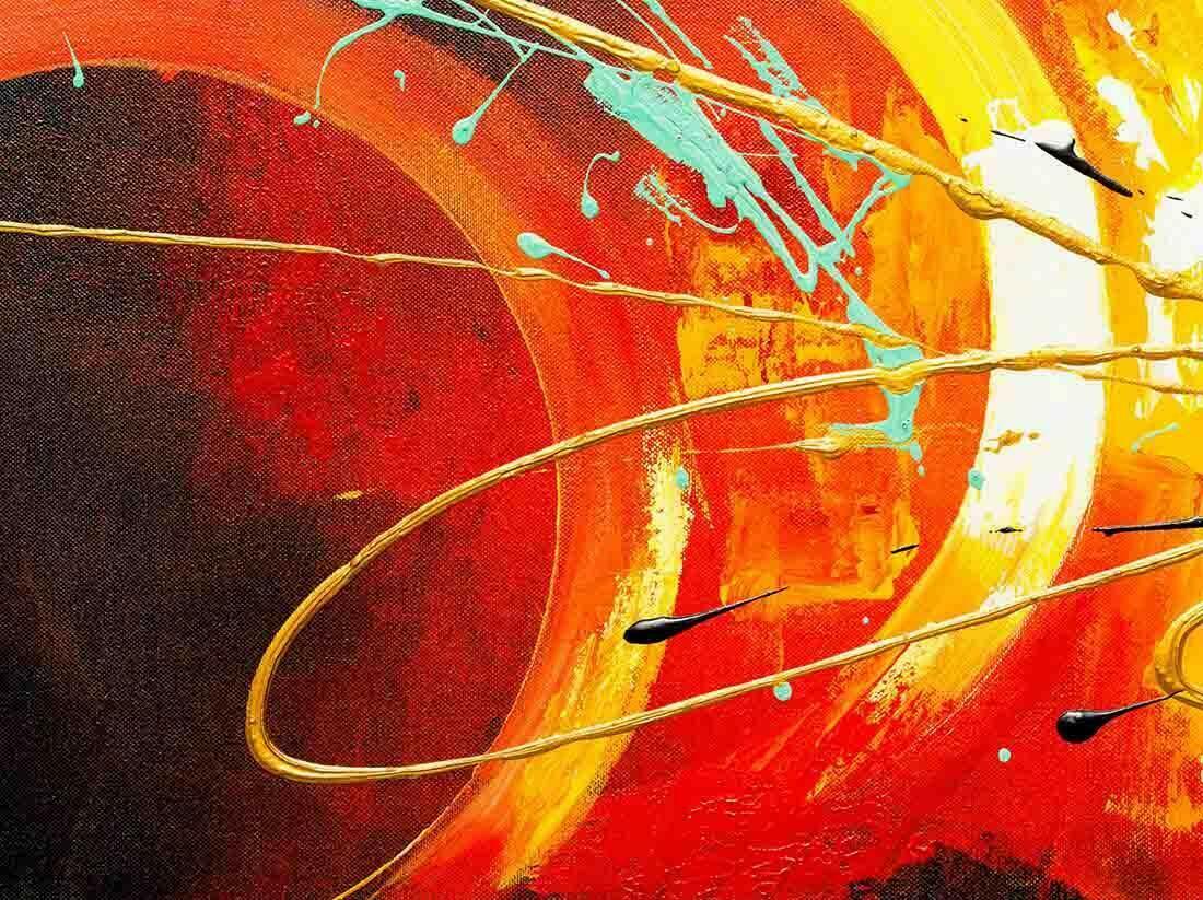 Abstract schilderij Thunder - Uitvergroting