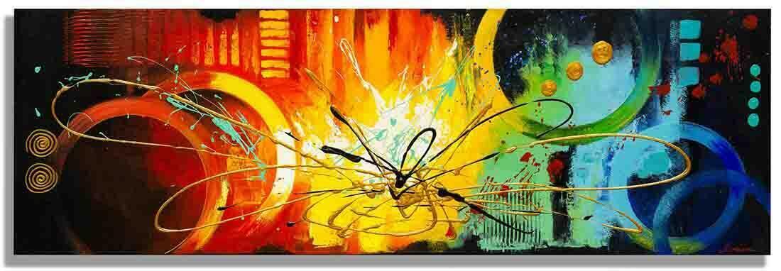 Abstract schilderij Thunder