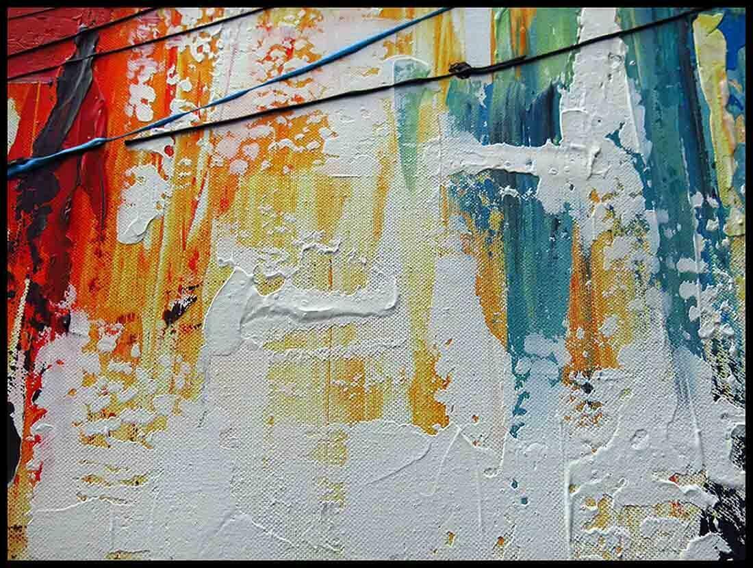 abstract schilderij uitvergroting