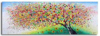 Kleurrijk boom schilderij Magic Nature II