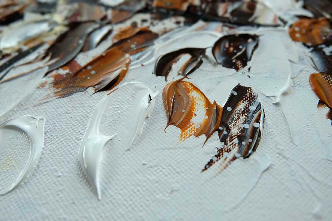 Boom schilderij Bruin - Uitvergroting 2 van 2