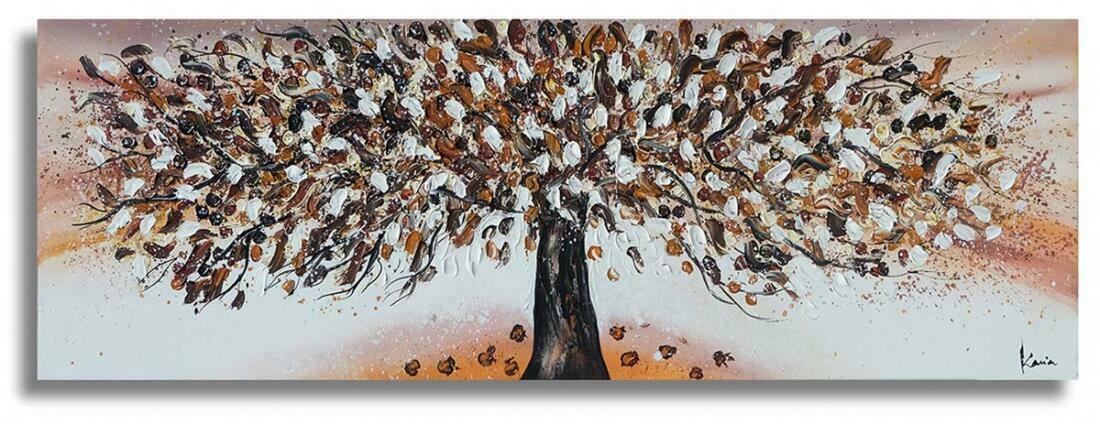 Boom schilderij Bruin