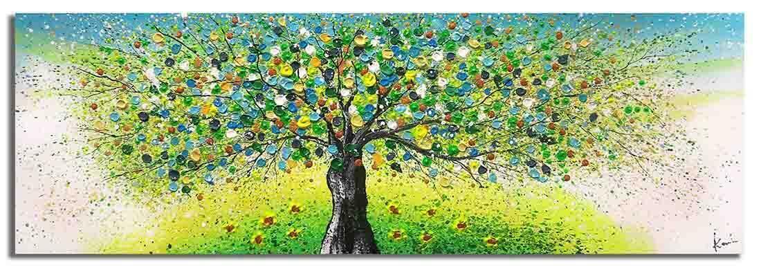 Boom schilderij Magic Nature Groen