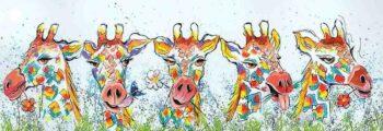Giraffen schilderij
