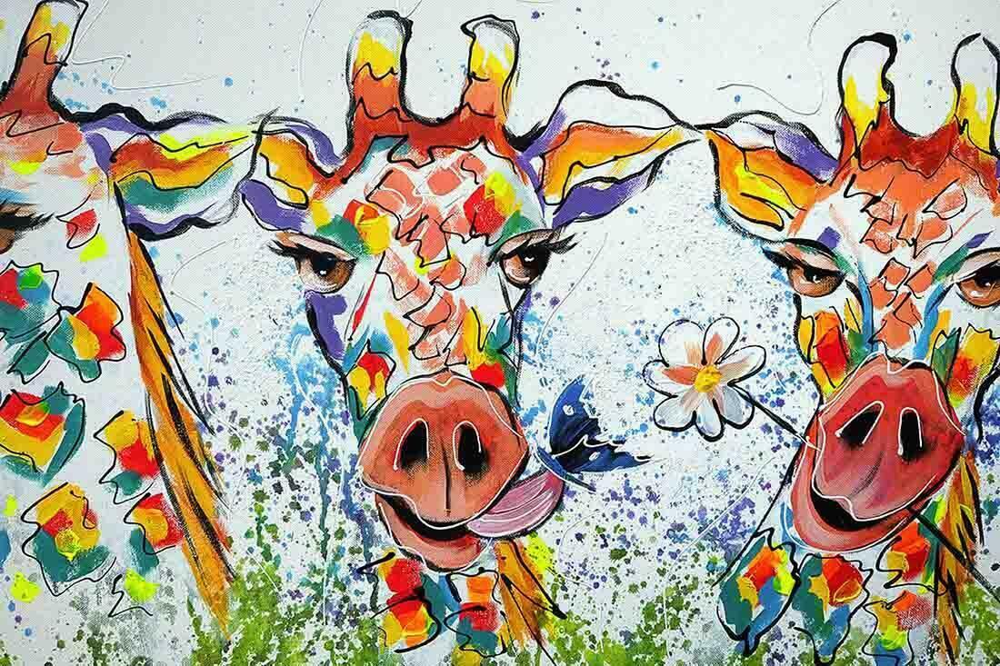 Giraffen schilderij Uitvergroting 2-2