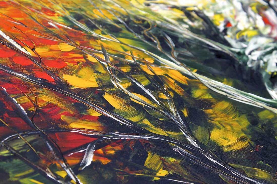 Boswandeling schilderij - Uitvergroting 1 van 2
