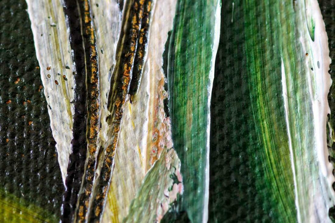 Boswandeling schilderij - Uitvergroting 2 van 2