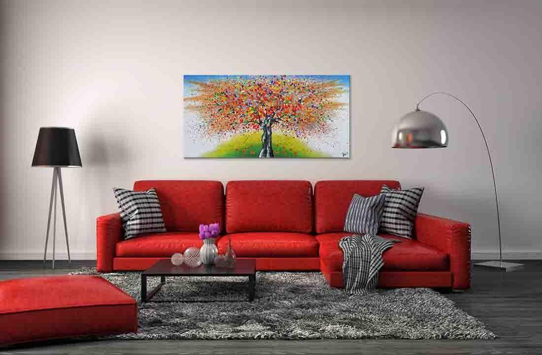Boom Schilderij Magic Orange - Voorbeeld in interieur