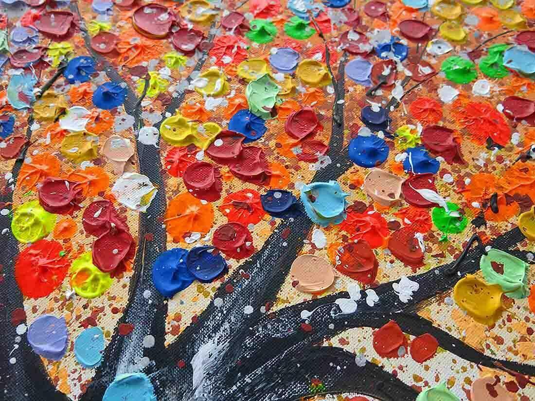 Boom Schilderij Magic Orange - Uitvergroting