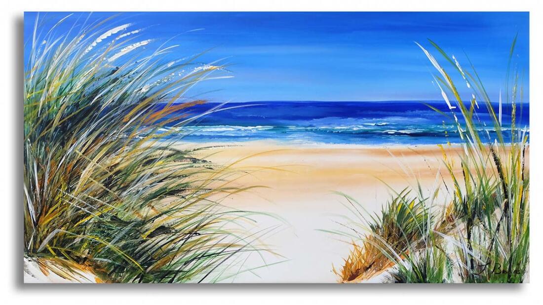 Zomer schilderij Strand en Zee