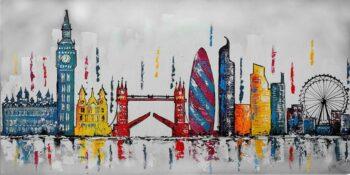 Skyline Londen schilderij
