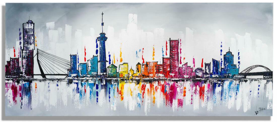 skyline schilderij rotterdam