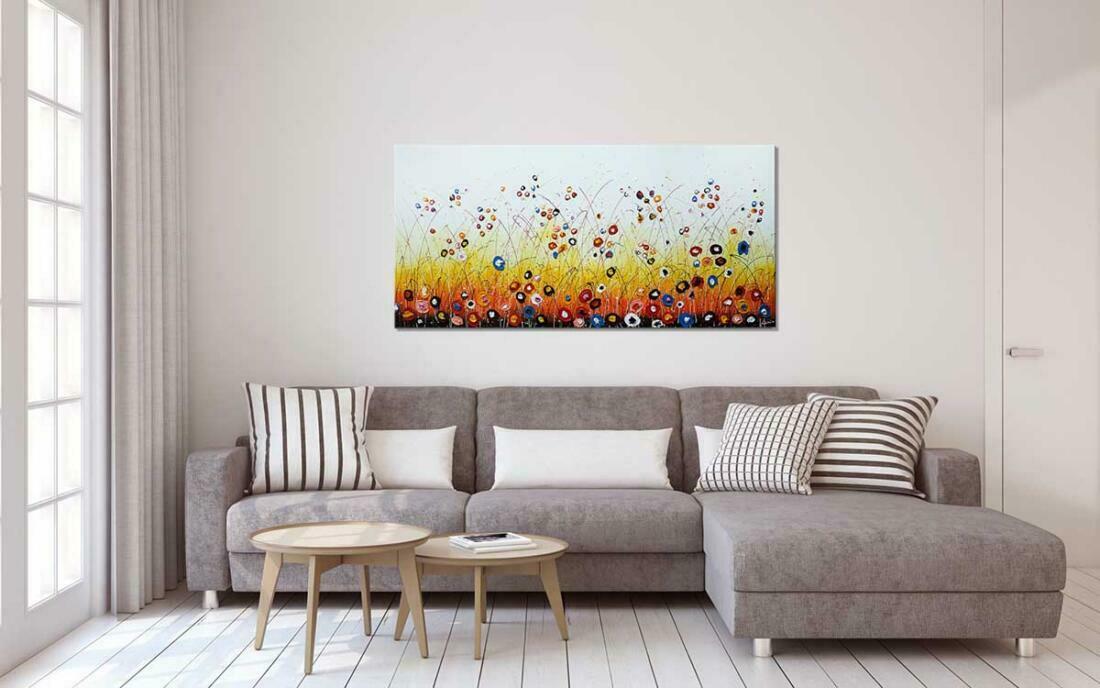Blije bloemen schilderij - Interieur