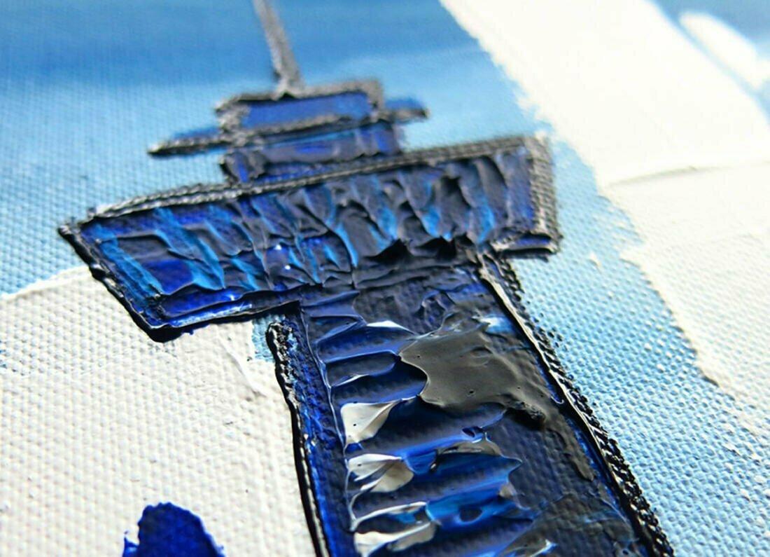 Skyline schilderijen Rotterdam - Uitvergroting 2 van 2