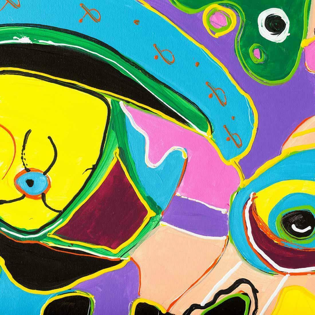 Abstract schilderij Evolutie - Uitvergroting