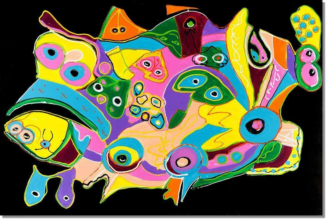 Abstract schilderij Evolutie
