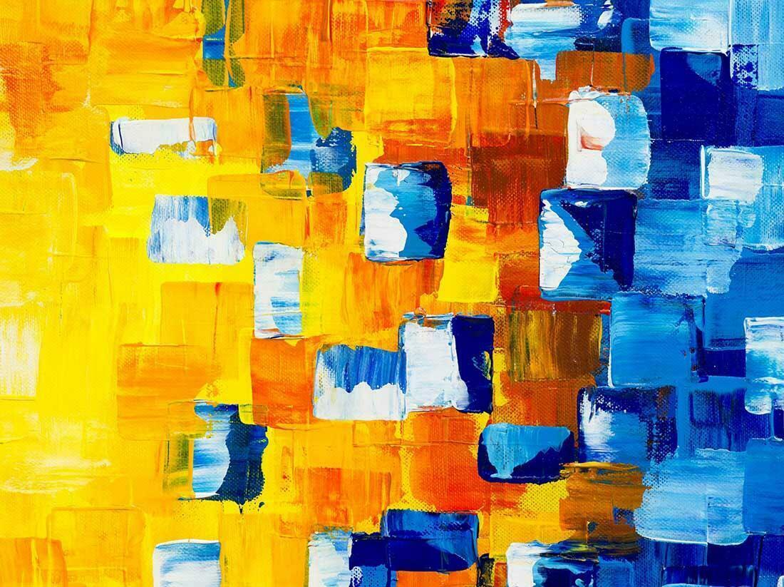 Abstract schilderij Diversity - Uitvergroting
