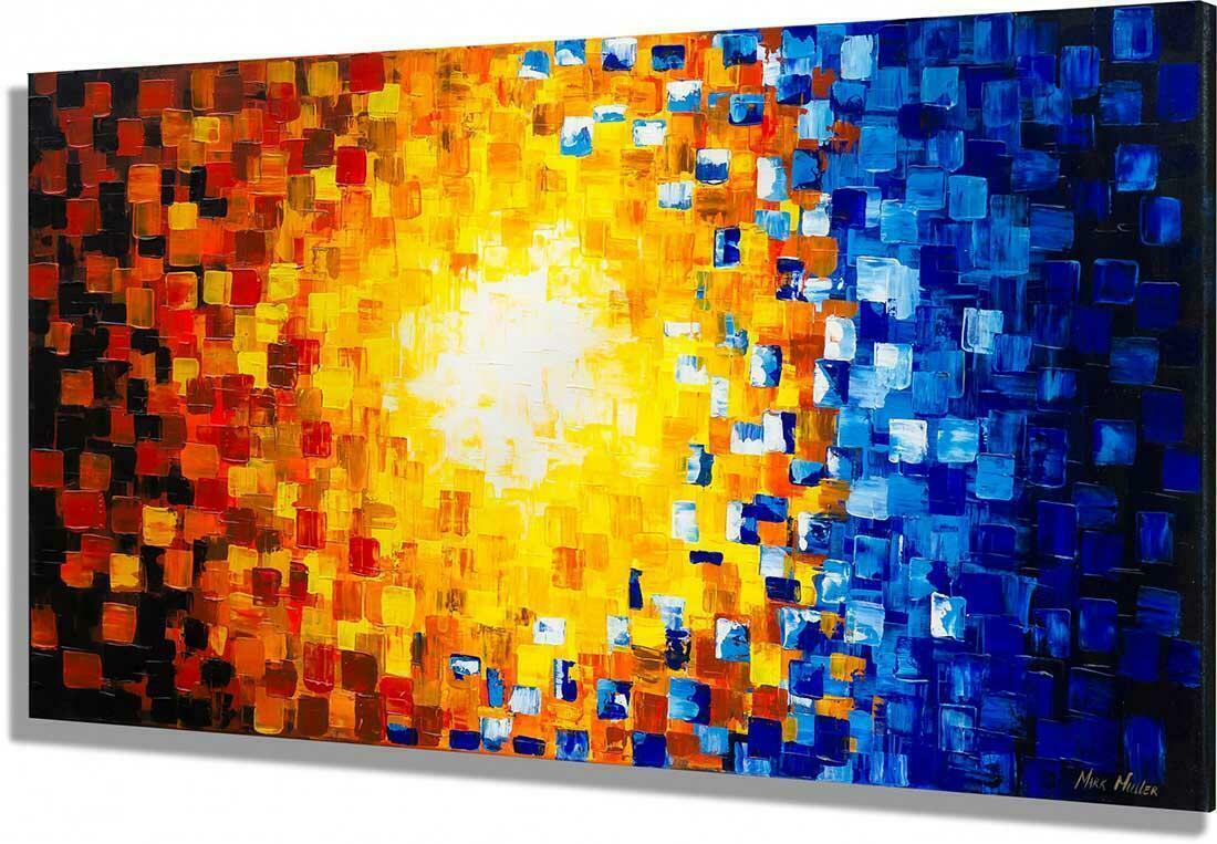 Abstract schilderij Diversity - Zijkant