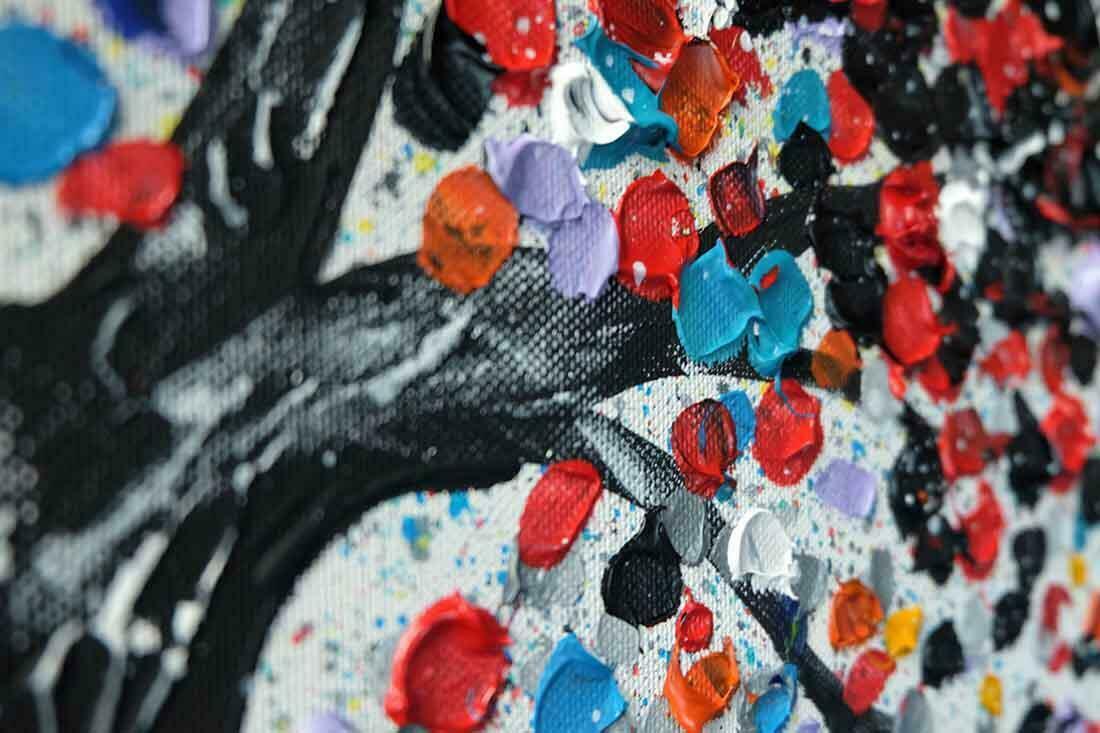 Schilderij Herfst uitvergroting 1 van 3