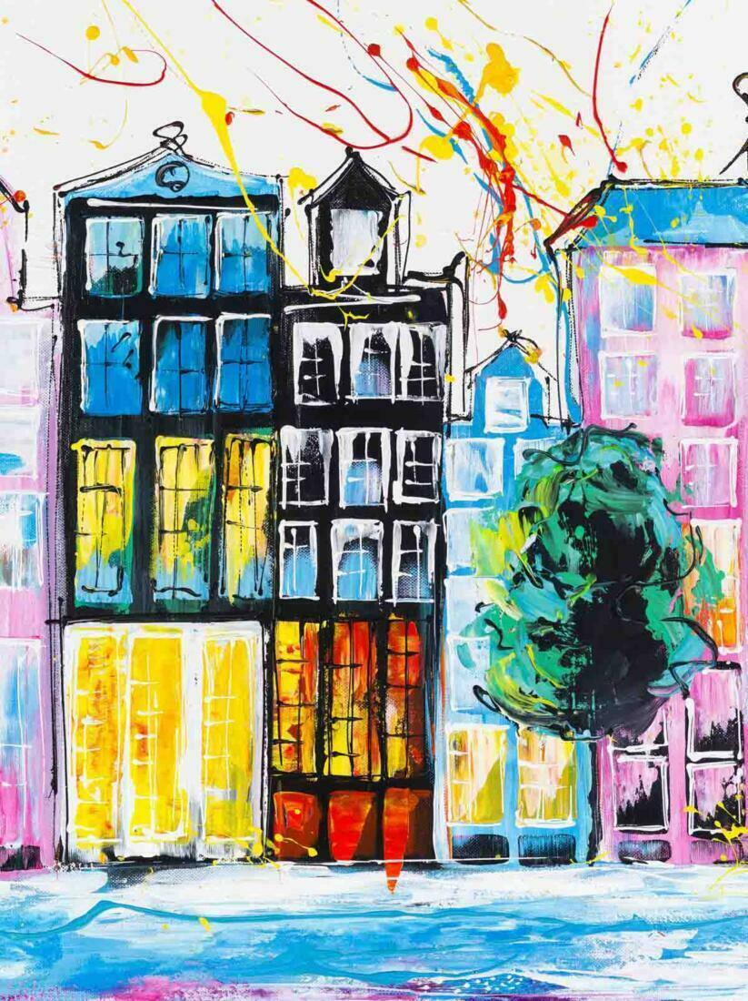 Amsterdam schilderij - Uitvergroting