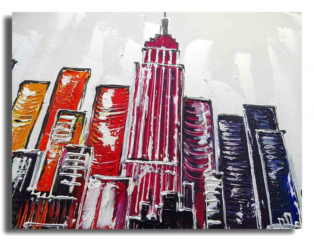 Skyline New York Schilderij - Uitvergroting 1 van 2