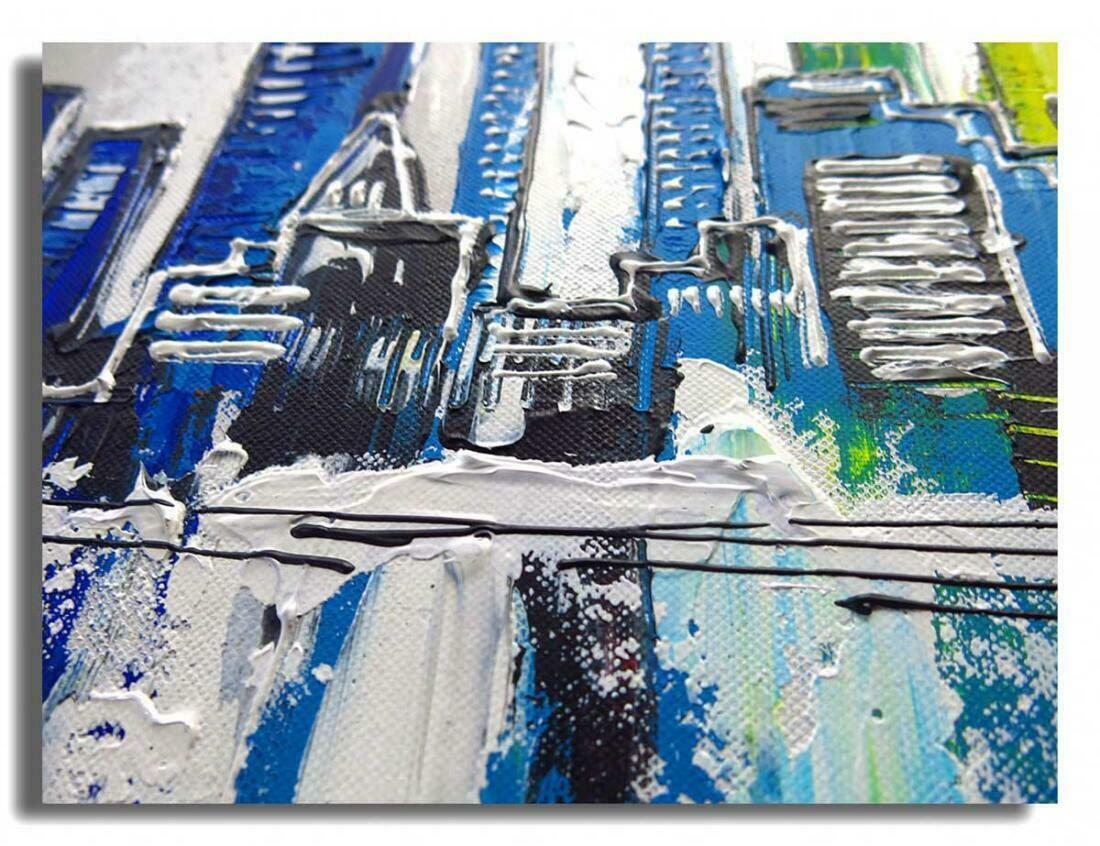 Skyline New York Schilderij - Uitvergroting 2 van 2