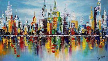 Skyline schilderijen