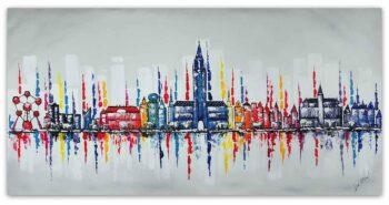 Skyline Brussel schilderij