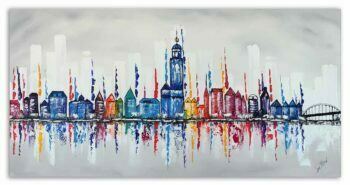 Skyline schilderij Deventer