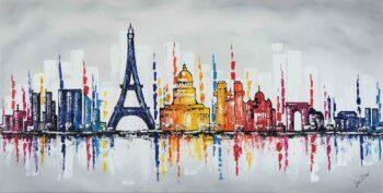 Skyline Parijs schilderij