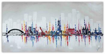 Skyline Zwolle schilderij