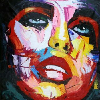 Kleurrijk gezicht vrouw