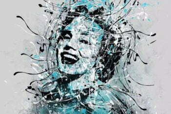 Marilyn Monroe modern schilderij
