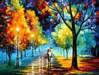 Schilderij 'Wandeling'