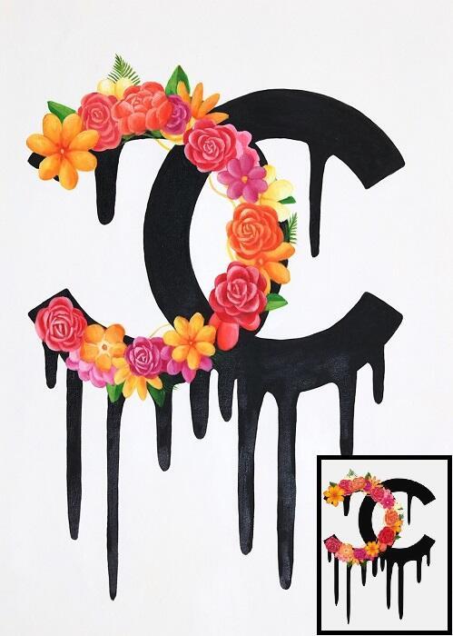 Schilderij op maat 'Chanel schilderij'