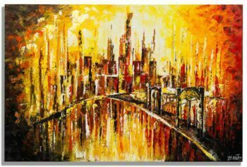 Skyline schilderij Droomstad