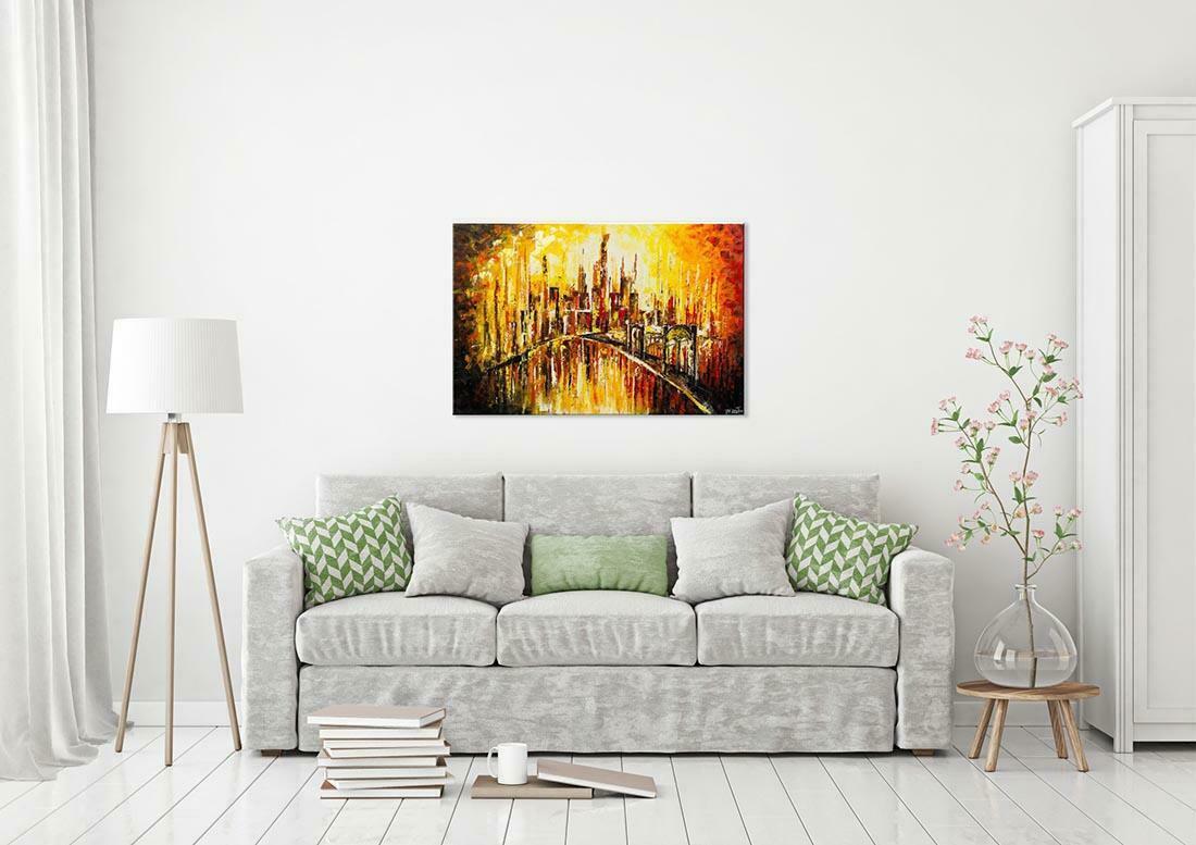 Skyline schilderij Droomstad - Interieur voorbeeld