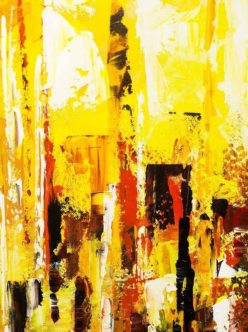 Skyline schilderij Droomstad - Uitvergroting
