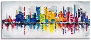 Groot skyline schilderij
