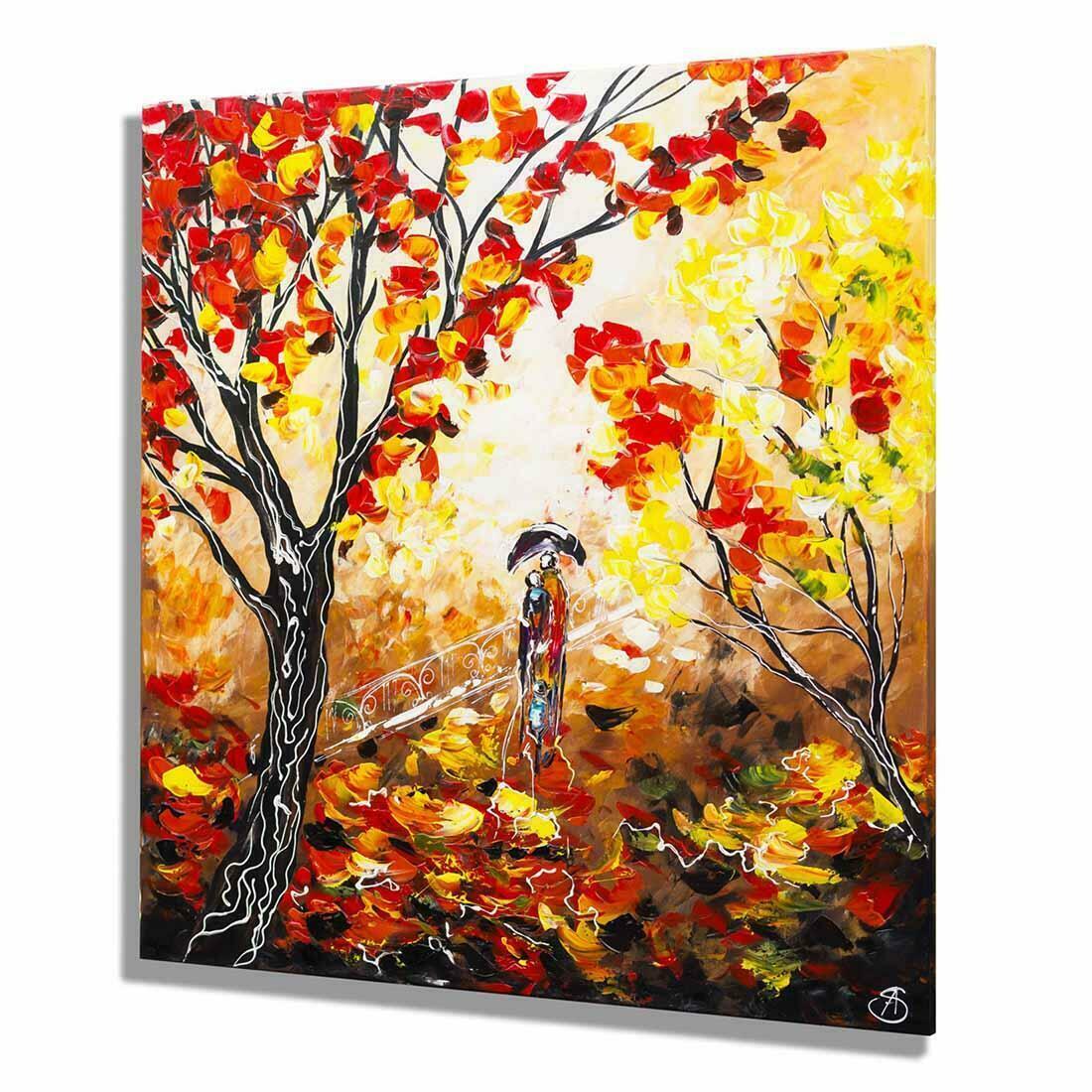 Herfstwandeling schilderij - Zijkant