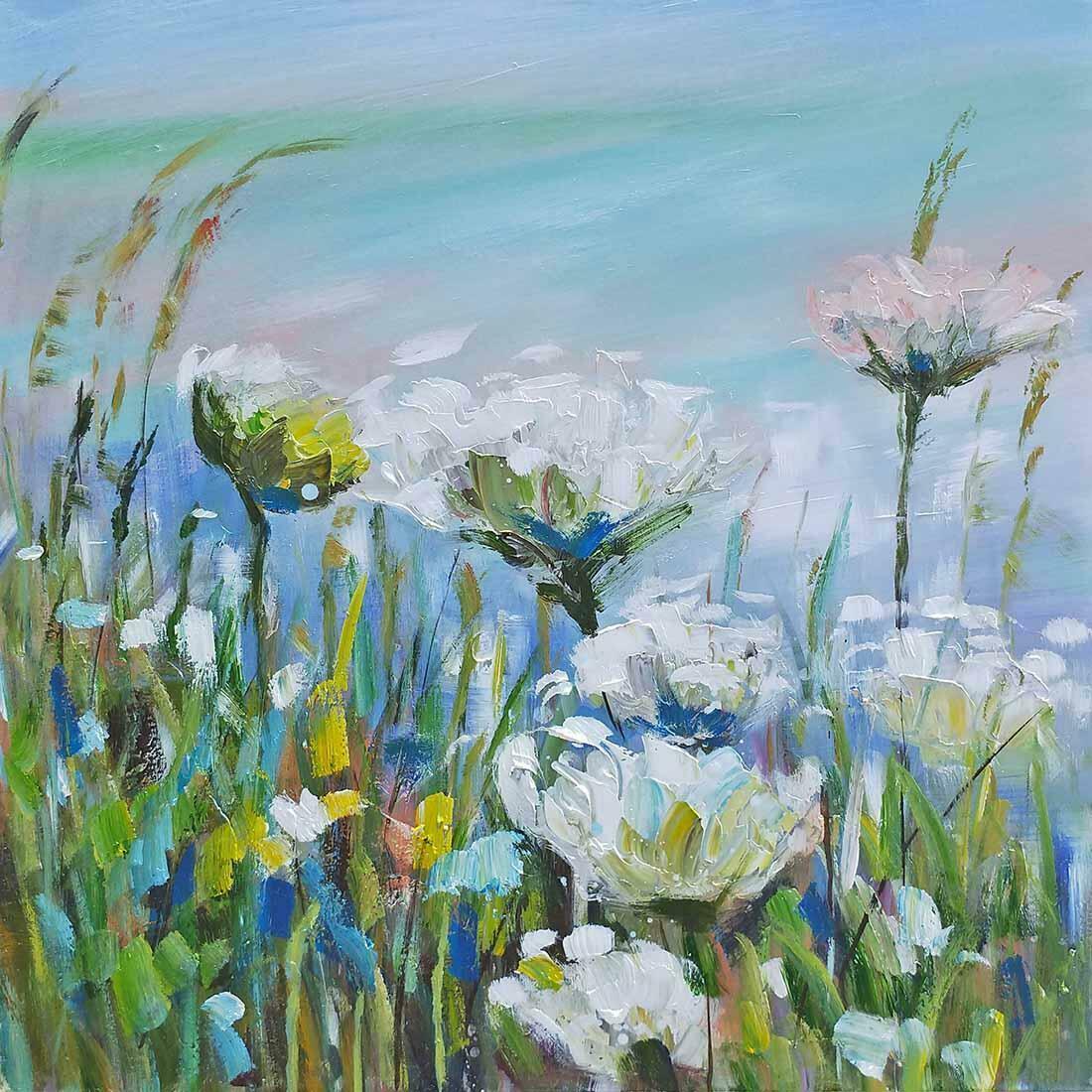 Lente bloemen schilderij