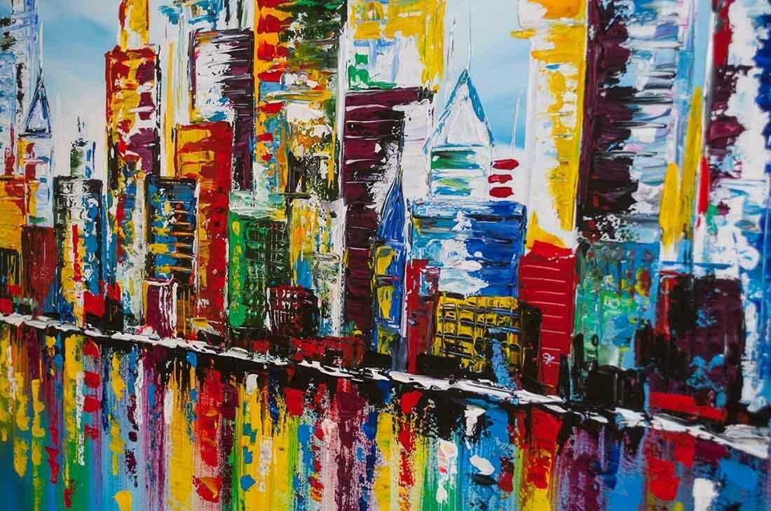 Skyline schilderij - Uitvergroting 1/2