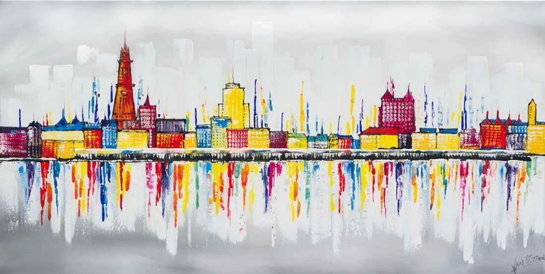 Skyline schilderij Antwerpen