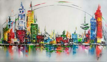 Skyline schilderij City Circle