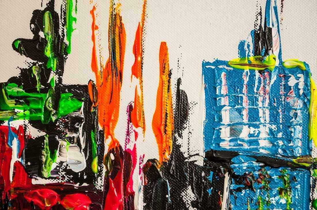Skyline schilderij City Circle - Uitvergroting