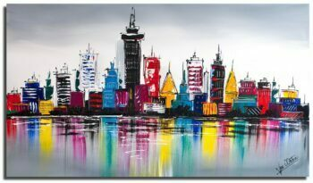 Skyline schilderij Color City